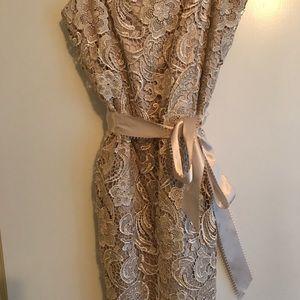 Gold Lace Dress